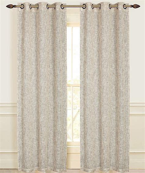 beige manhattan linen look grommet curtain panel set of