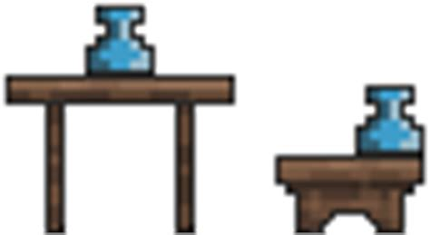 Terraria Chair And Table by Alchemy Station Terraria Wiki Fandom Powered By Wikia