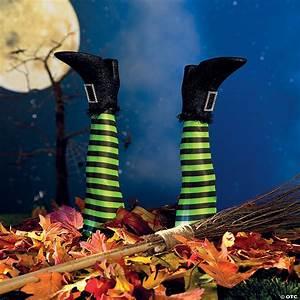 Witch, U2019s, Legs, Yard, Stakes, Halloween, Decoration