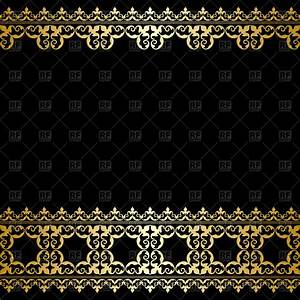 Black and gold background with vintage border Royalty Free ...