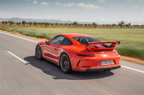 porsche back 2018 porsche 911 gt3 first drive review automobile magazine