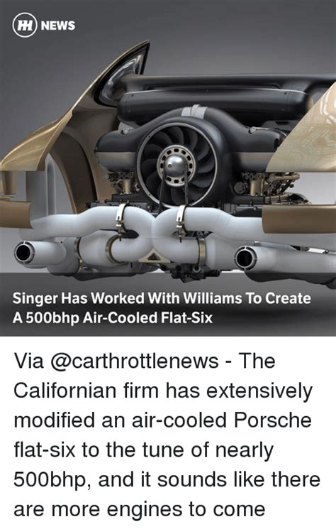 singer porsche williams engine news singer has worked with williams to create a 500bhp