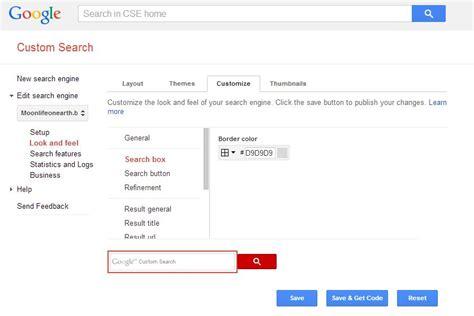 Javascript Google Custom Search With Transparent