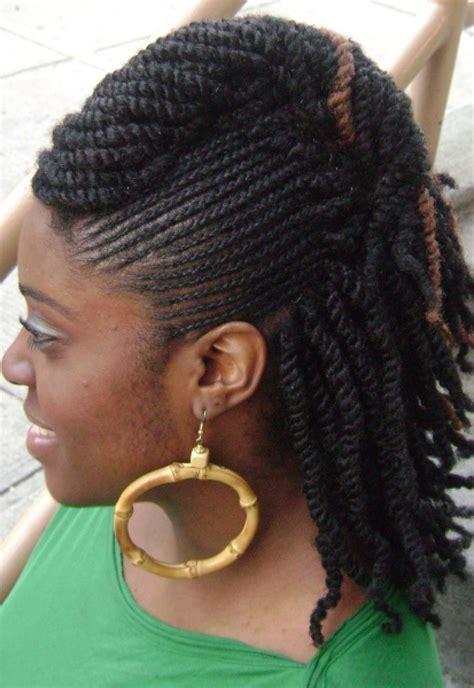 Flat Twist Braids Hairstyles for Black Women