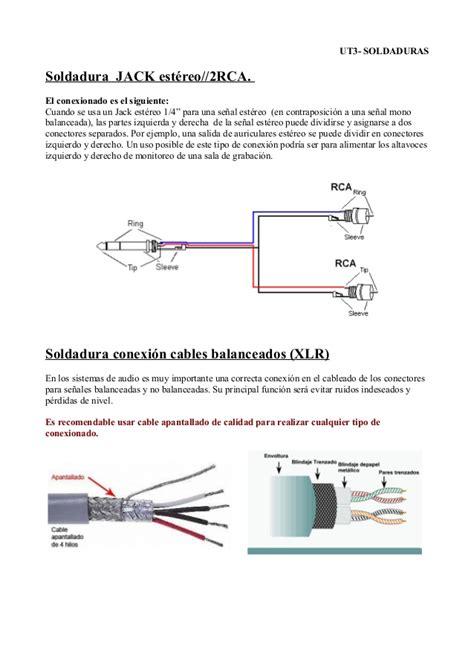 ut3 soldadura de conectores de audio