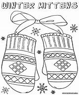 Mittens Coloring sketch template