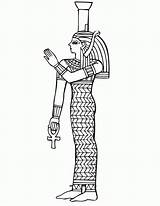 Egyptian Coloring Egypt Ancient Queen Pages Starověký Sarcophagus Osiris Isis Goddess Drawing Jr Omalovanky Fantasy Stencils Drawings Designlooter Popular Printer sketch template