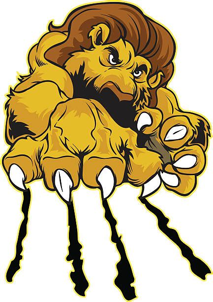 lion paw illustrations royalty  vector graphics