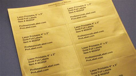 printable gold foil laser labels  sheets gf