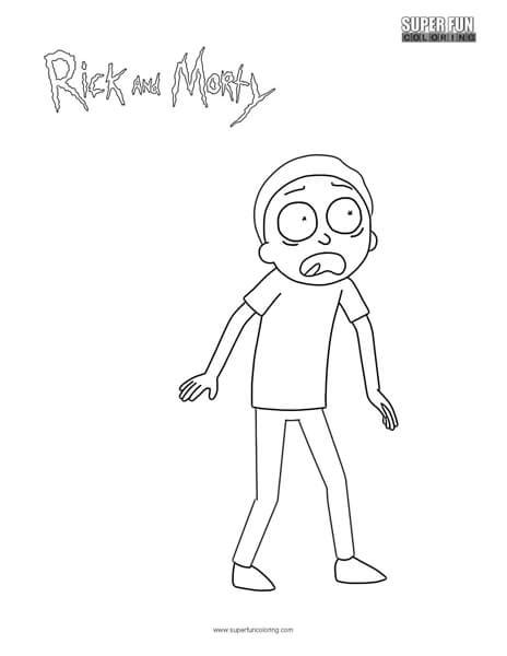 morty rick  morty coloring page super fun coloring