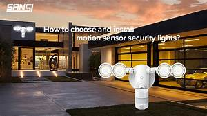 How To Install Motion Sensor Security Light