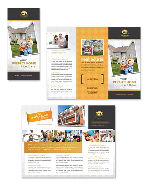 Real Estate Tri Fold Brochure Template by Real Estate Tri Fold Brochure Template