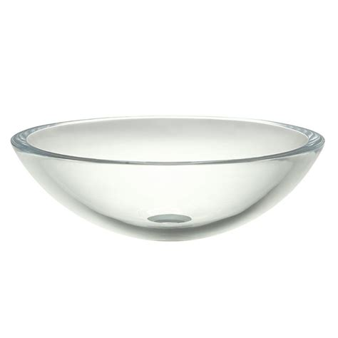 Decolav Sinks Home Depot by Decolav Translucence Glass Vessel Sink In Transparent