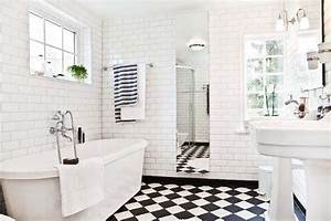 black and white tile bathroom ideas With black and white checkered tile bathroom