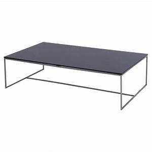 buy gillmore space black glass coffee table from fusion With glass and metal rectangular coffee table