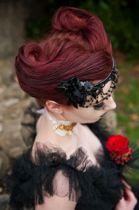 wedding photo shoot victorian gothic alice