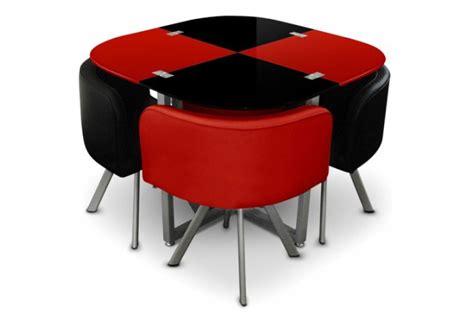table avec chaise encastrable pas cher table repas damier 4 chaises et noir tables à