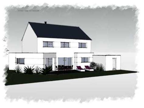 arteco 301 maison contemporaine 2 pans avec module toit plat