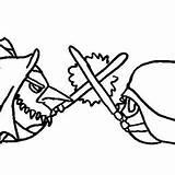 Coloring Bird Angry Windu Mace Stella Wars Star Draw Vader Darth Versus sketch template