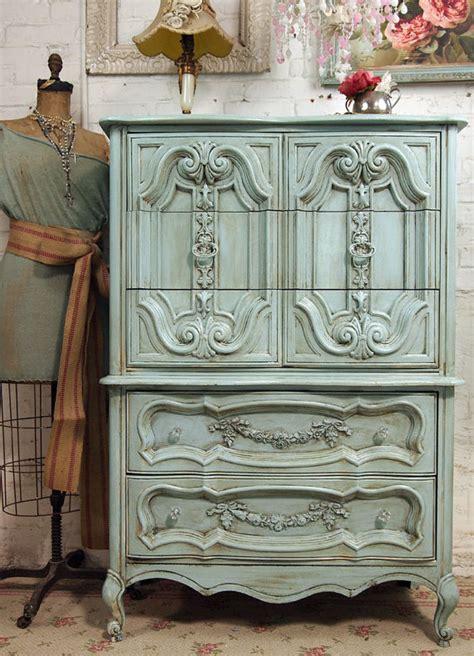 home decor vintage painted chest  romantic