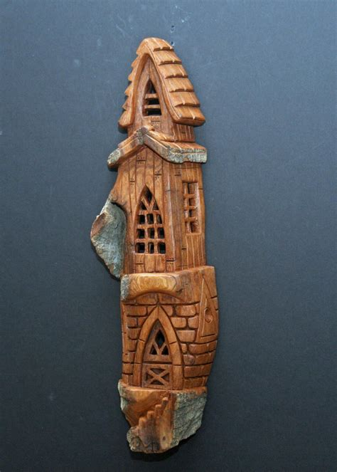 whimsical house carving  william rogers cottonwood
