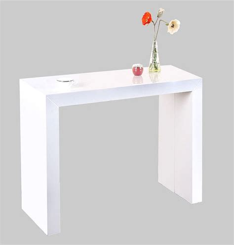 table console cuisine table console extensible shely blanc laquee table