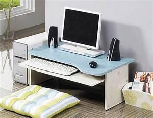 Details about computer floor table laptop desk japanese for Pc on desk or floor