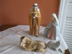 home interior nativity vintage home interior porcelain nativity set ebay