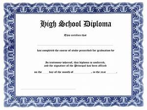 Free high school diploma templates template update234com template update234com for Printable diploma templates