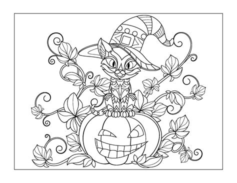 Halloween Coloring Pages (for older kids) Gift of Curiosity