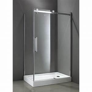 Paroi Douche Verre Sablé : paroi de douche en verre 120x80 ~ Premium-room.com Idées de Décoration