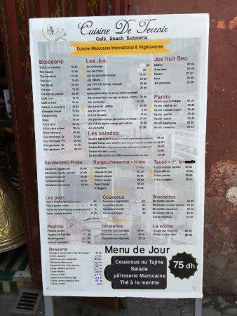 menu cuisine marocaine burritos photo de cuisine de terroir marrakech