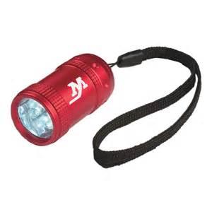 100 Imprinted Flashlights - Aluminum Small Stubby LED Flashlight With Strap