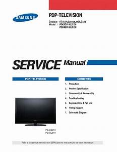 Samsung F31a Calla Chassis Ps42q91hx Ps50q91hx Plasma Tv