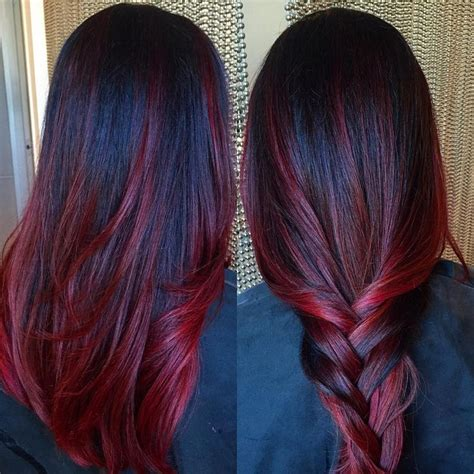 The 25 Best Red Ombre Ideas On Pinterest Burgundy Hair