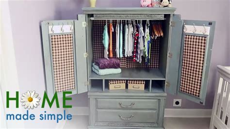 Wardrobe Cabinet Home Depot: How To Turn An Old TV Cabinet Into A Stunning Baby Armoire