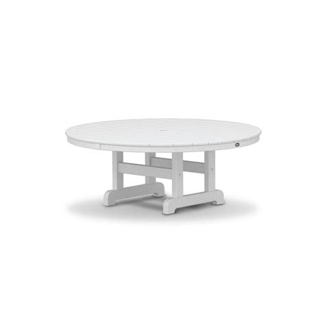 white round outdoor table trex outdoor furniture cape cod classic white 48 in round