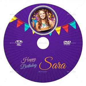 birthday party dvd cover and dvd label template 3 by With dvd sticker labels