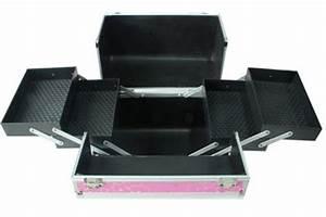 Pink Aluminium MOBILE BEAUTY BOX Vanity Case UK