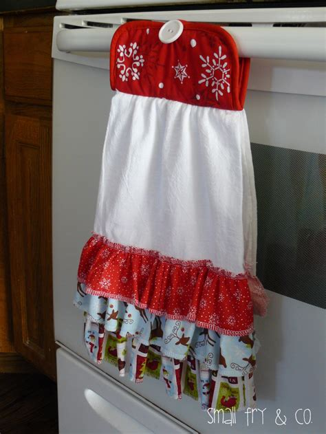 small fry  ruffle front christmas towel
