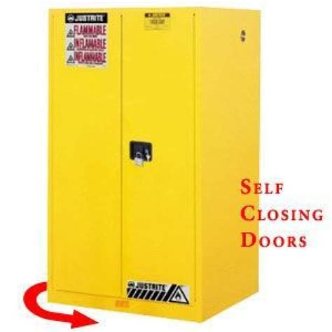 Flammable Safety Cabinet 45 Gal Yellow by Justrite 45 Gal Yellow Flammable Liquid Safety Cabinet