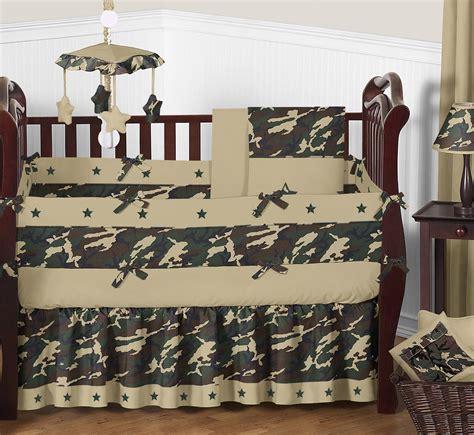 sweet jojo designs camo green collection pc crib bedding