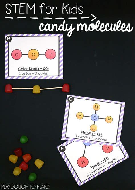 molecules  atoms pack playdough  plato