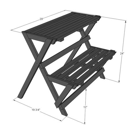 tiered plant stand plans  woodworking projects plans