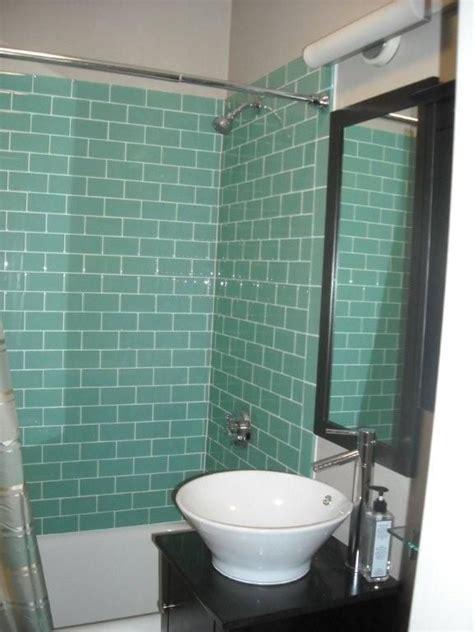 aqua glass subway tile aqua glass  ojays  chic
