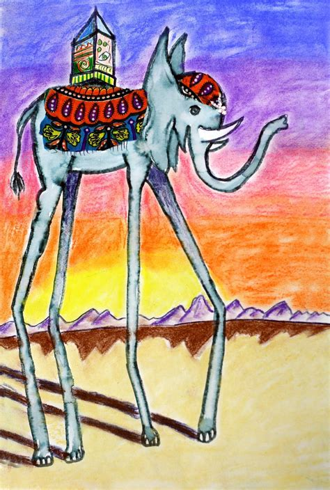 dali inspired elephants salvador dali art art lessons