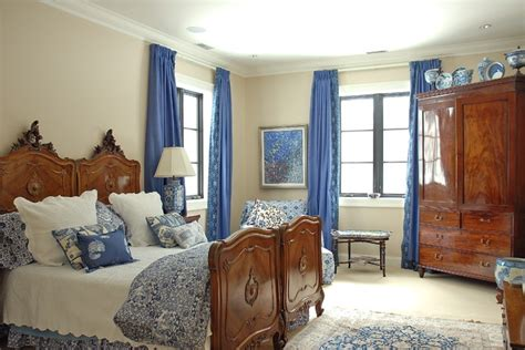 Delft Blue Guest Bedroom  Traditional Bedroom
