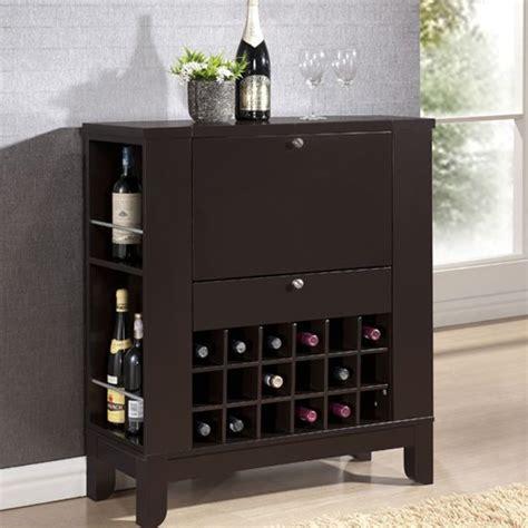 pretty contemporary bar cabinet on modesto brown modern