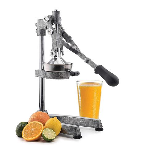 juicer manual fruit steel stainless commercial citrus squeezer grade vollum oranges hamilton beach extra lever juicers cast lemons limes grapefruits