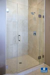 frameless shower door Frameless Glass Shower Spray Panel | Oasis Shower Doors MA ...